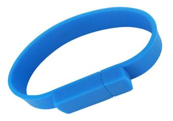 PVC Wrist Flick Custom USB Bracelet
