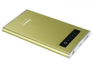 gold custom powerbanks